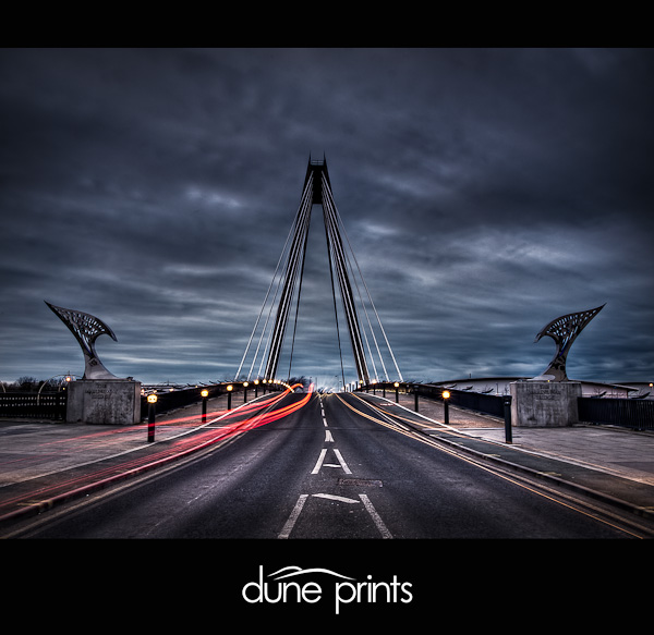 Southport Marine Way Bridge at Night