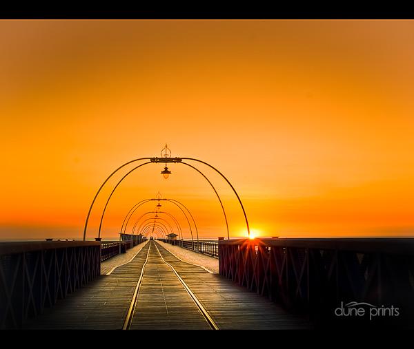 Orange Sky - Southport Pier